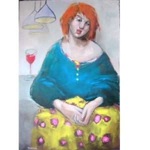 basia roszak oil on canvas art in UK Scotland