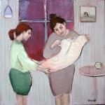 oil on canvas original artwork Glasgow artist