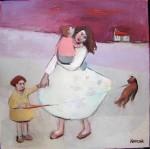 oil on canvas original work basia roszak