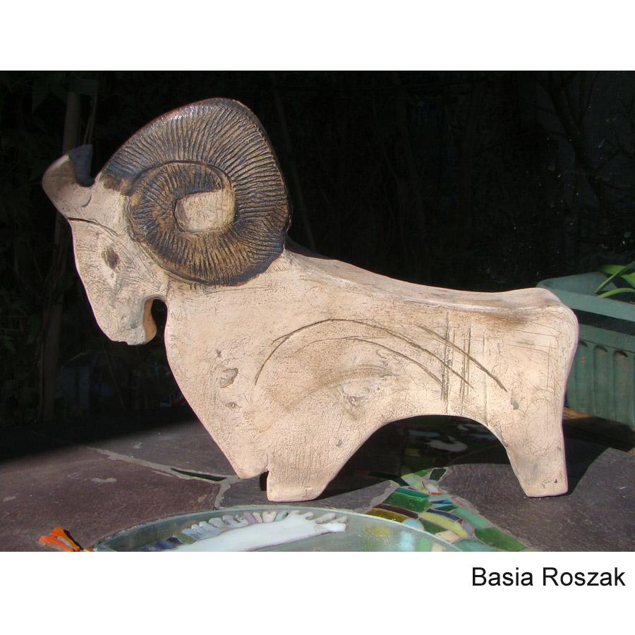 RAM ceramic 23cm h x 28cm w £200