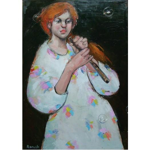 LISTEN TO THE SILENCE oil on canvas 70cx50cm £1000