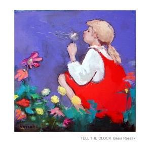 TELL THE CLOCK oil on canvas 40cm40cm £ 650